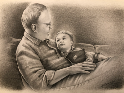 Handdrawn pencil portrait