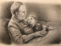 Handdrawn pencil portrait
