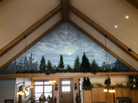 Handpainted Mural Above a Living room