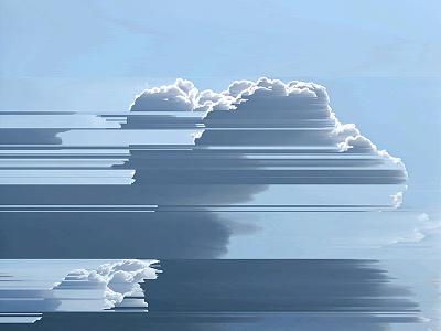 Sky glitch art experiments glitch