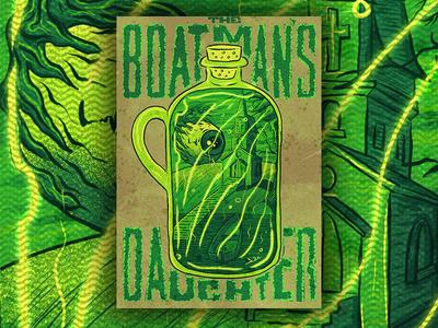 The Boatman's Daughter procreate typography horror fiction digital illustration horror literature book cover procreate illustration procreate app procreate illustration typography