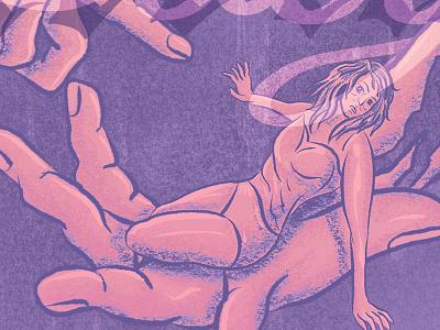 Baby Teeth, Tribute Illustration Detail 1 book cover digital illustration horror fiction design procreate illustration horror literature typography procreate app illustration