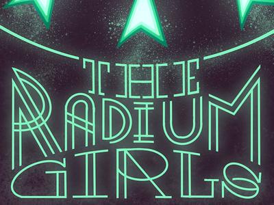 The Radium Girls Detail 1 design horror fiction procreate typography book cover horror literature procreate procreate app illustration typography