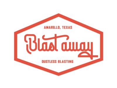 Blast Away Identity Concept branding and identity freelance logo design branding vintage new vintage logo retro-modern retro orange badge bold script script logodesign classic letterring logotype