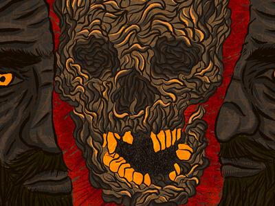 TheOutsiderBook Tribute illustration digital illustration horror fiction book cover procreate illustration procreate horror literature illustration procreate app typography