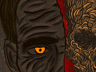 TheOutsiderBook Tribute 2 process book cover horror fiction design digital illustration procreate illustration procreate horror literature procreate app illustration