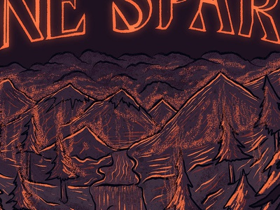 OneSpark to 1,000 Trees - Detail 1 outdoor education outdoors illustration outdoors resource management design digital illustration procreate illustration procreate procreate app illustration