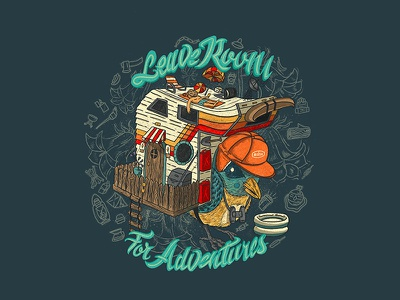 Leave Room For Adventures camping outdoor life outdoor awareness leave no trace branding design procreate typography digital illustration procreate illustration procreate typography procreate app illustration