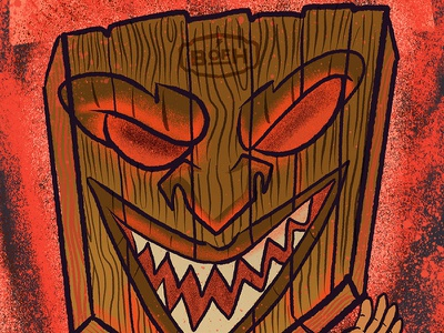 Don't Be Menace In The Woods - Detail 3 woodspeople camping josie2myfriends josebarrientos brotherhoodofhermanos leavenotrace outdoorawarenss outdooreducation designforgood design digital illustration procreate illustration procreate typography procreate app illustration