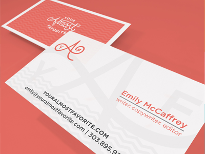 Your Almost Favorite Business Cards business card design branding identiy