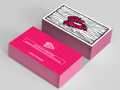 Business cards for Bien Machin business card design branding identity woodgrain