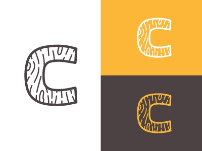 WoodenC thin lines c vector wood logo