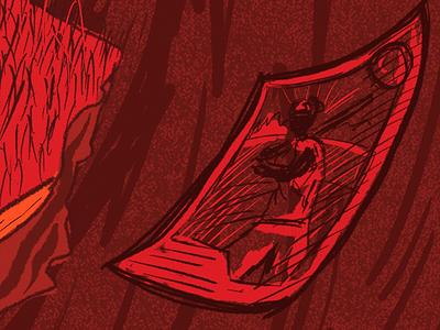 The Shining Girls detail baseball card horror book fan horror literature book illustration illustration procreate art procreate illustration