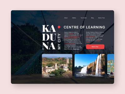 Kaduna - My City web grids user interface design ui design