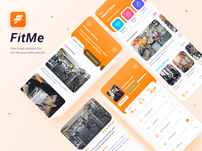 Fitme - One stop sollution for fitness lover gym clean ui mental health nutrition profile workout medical app ux ui training sport health fitness fit app