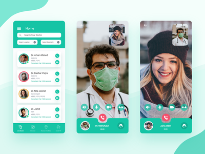V Doc - next-genaration solution for health health clean app ux ui patient search location care medical app doctor booking doctor appointment video call doctor app