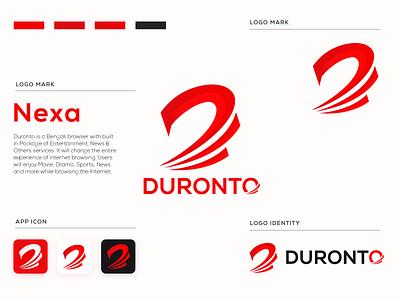 Duronto Browser Logo app icon logotype minimal modern logo d letter d letter logo logo