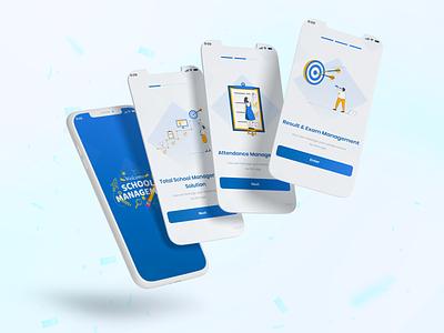 School Management App school app learning app academy education clean ui clean app ux ui