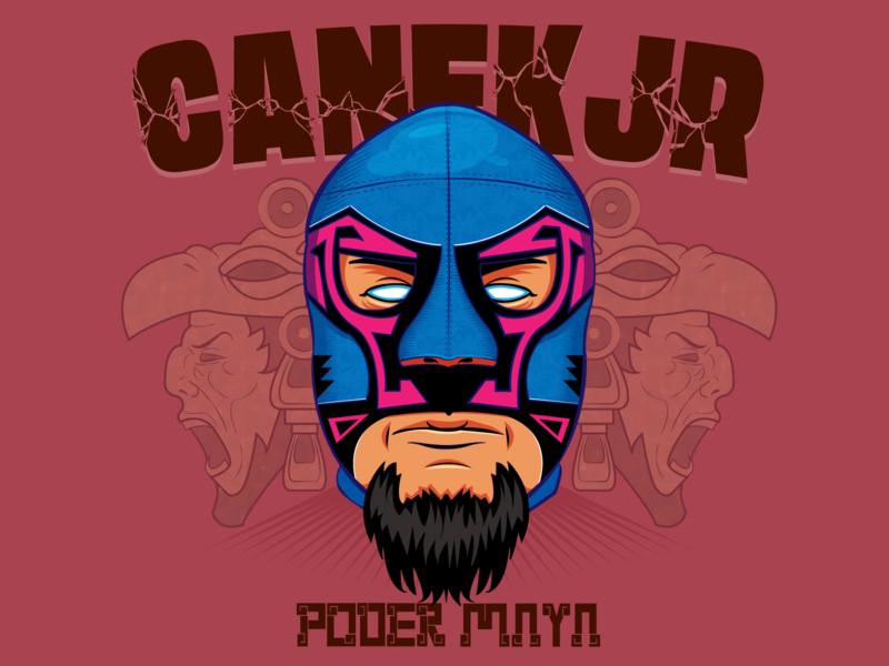 Canek Jr luchador aztec mayas cartoon vectorart digital painting digital illustration digital illustrator digitalart vector illustrator illustration vector illustration design