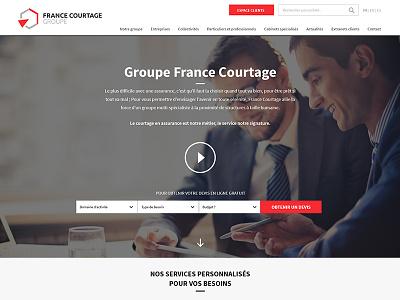 Groupe France Courtage design photoshop ui design ux design interface design corporate simple web ux ui clean web design