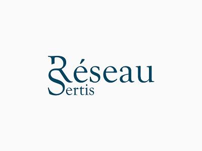 Réseau Sertis Logo logo logos vector design graphic design clean simple logo design typography branding identity lettering