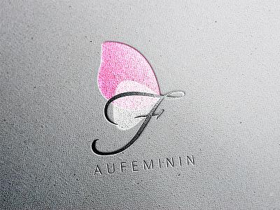 Redesign logo aufeminin.com design branding identity lettering typography illustrator black pink logotype logo clean simple