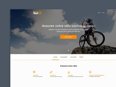 Assurances V- web website web design design photoshop ui design ux design ux ui interface design immersive corporate