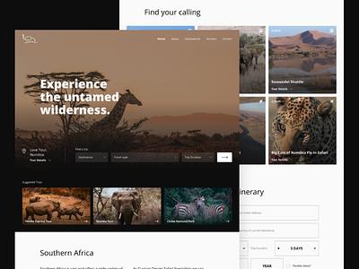 Safari booking website - Web Design minimal clean modern ux uiux ui website designer design web webapp app agency traveling travel booking safari