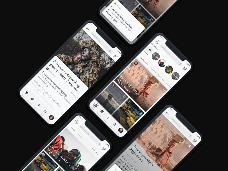 News Startup - App Ui Design design social media interface ui elements minimalist news app uiux startup news designer product design minimalistic app ui app designer ui modern minimal clean app design app