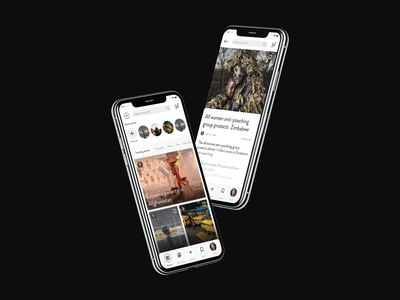 News Startup - App Ui Design freelancer social media social app uiux ui ux ui design news start up startup designer app product design minimalistic app ui app designer ui app design modern minimal clean