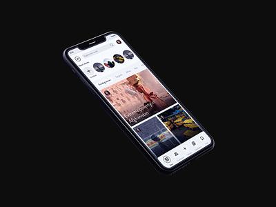 News Startup - App Ui Design app app design clean minimal modern ui app designer app ui minimalistic product design designer news startup uiux news app minimalist ui elements interface social media design