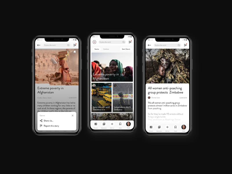 News App Design: Veridi News startups strat up ui  ux ui startup social media product design news app news modern minimalistic minimal interface designer design clean app designer app design app app ui