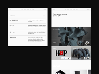 Eleventh - Web Design Exploration concept design website concept website design web design webdesign website web typography type modern minimalistic minimal gallery editorial designer design conceptual concept