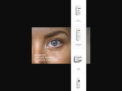 Beauty / Makeup Ecommerce — Web Design Exploration skin dermatology makeup beauty website concept website design web design webdesign website web typography type modern minimalistic minimal designer design conceptual concept design concept