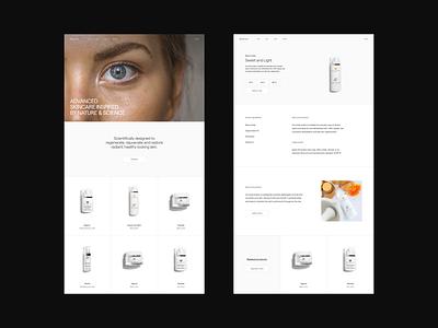 Beauty / Makeup E-commerce — Web Design Exploration website concept website website design web design webdesign web typography type skin modern minimalistic minimal makeup designer design dermatology conceptual concept design concept beauty