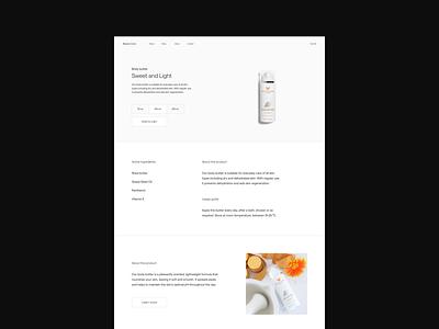 Beauty / Makeup E-commerce — Web Design Exploration ui design website concept webdesign website design web design website web typography type modern minimalistic minimal makeup designer design shop ecommerce concept design concept beauty