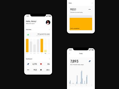 Fitness App Concept uidesign ui  ux uiux ui design app dashboard tracker gym training fitness app sport fitness data visulization concept app ui app design ui designer modern minimal