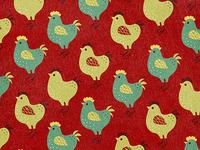 Chicken Pattern - Red