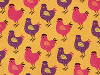Chicken Pattern - Orange