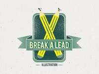 Break A Lead Illustration Logo