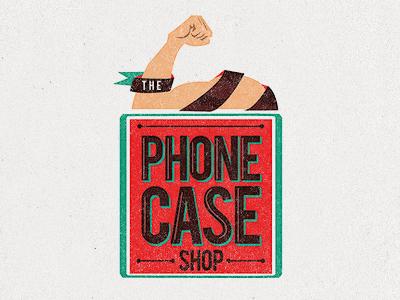 The Phone Case Shop Logo logo phone arm illustration red