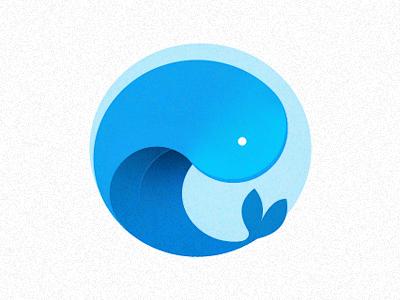 Whale Logo whale logo blue animal