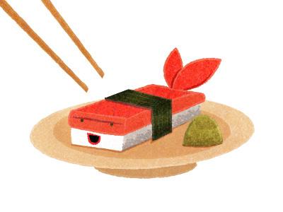 Sushi Time illustration sushi fish prawn