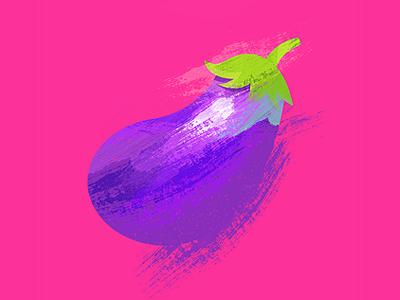 Aubergine illustration vegetable eggplant brinjal aubergine