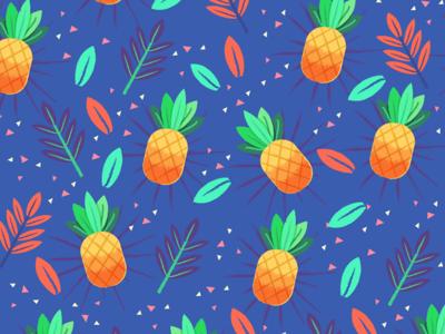 Pineapple Pattern pattern triangle leaf fruit pineapple