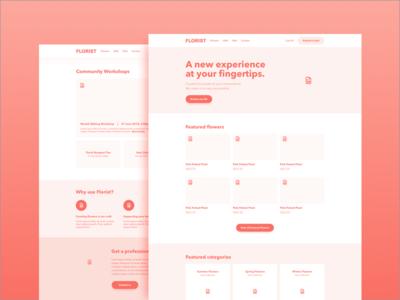 Homepage Wireframe prototype experience ux ui web design marketing homepage website wireframe