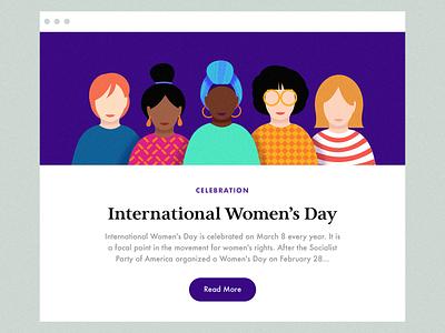 International Women's Day women women empowerment woman girl character design diversity header illustration women fashion layout illustration women in illustration
