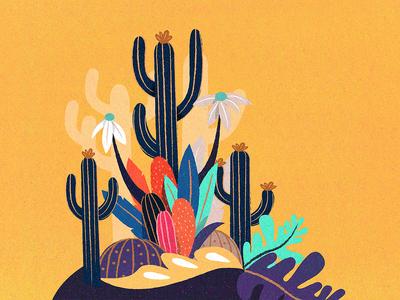 Plants illustration cactus leaf plants