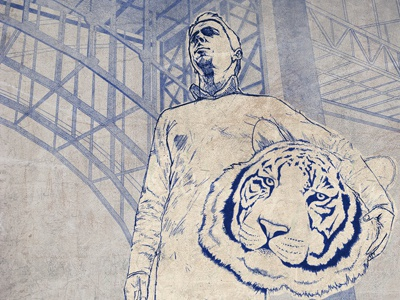 cd cover cover illustration hand drawn tiger