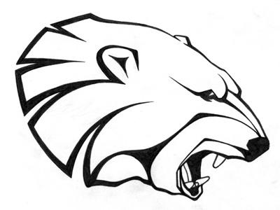 p.bear logo sign animal bw bear illustration